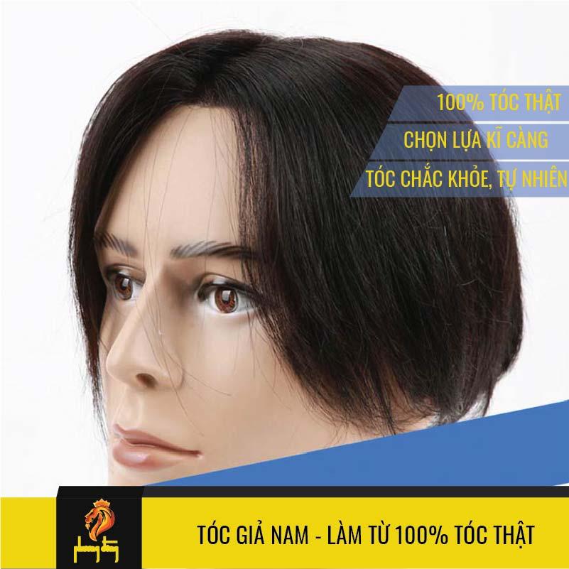 Tóc giả nam là từ 100% tóc thật